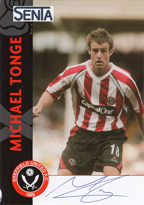 Michael Tonge, Sheffield Utd, signed 6x4 inch promo card.