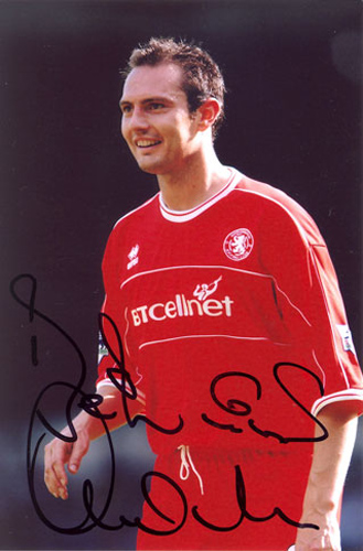 Noel Whelan, Middlesbrough, signed 6x4 inch photo.