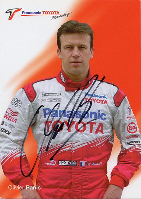 Olivier Panis, Toyota Racing F1, signed 6x4 inch promo card.