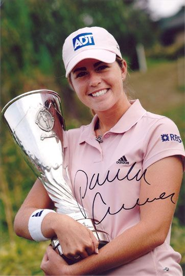 Paula Creamer, signed 12x8 inch photo.(2)