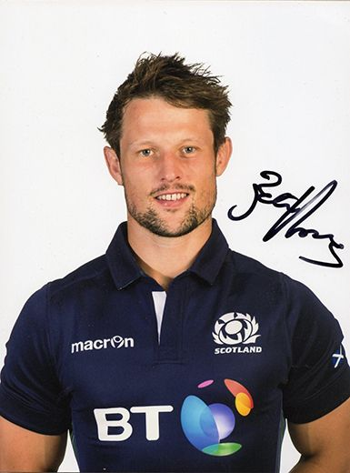 Peter Horne, Glasgow Warriors & Scotland, signed 8x6 inch photo.