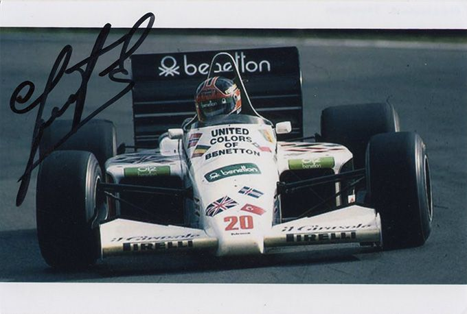 Piercarlo Ghinzani, Italian F1 driver, signed 6x4 inch photo.