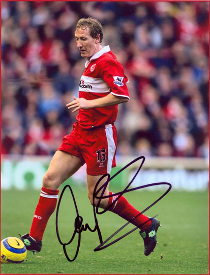 Ray Parlour, Middlesbrough, signed 10x8 inch photo.