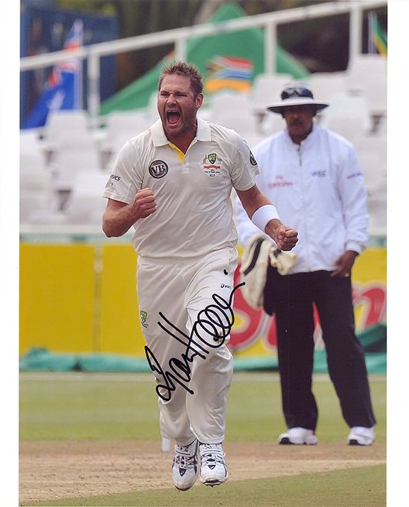 Ryan Harris, Australia, signed 10x8 inch photo.(2)