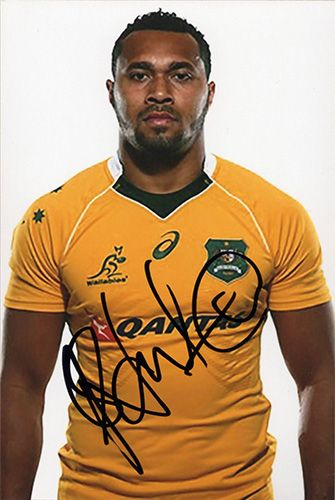 Sefa Naivalu, Australia, signed 6x4 inch photo.