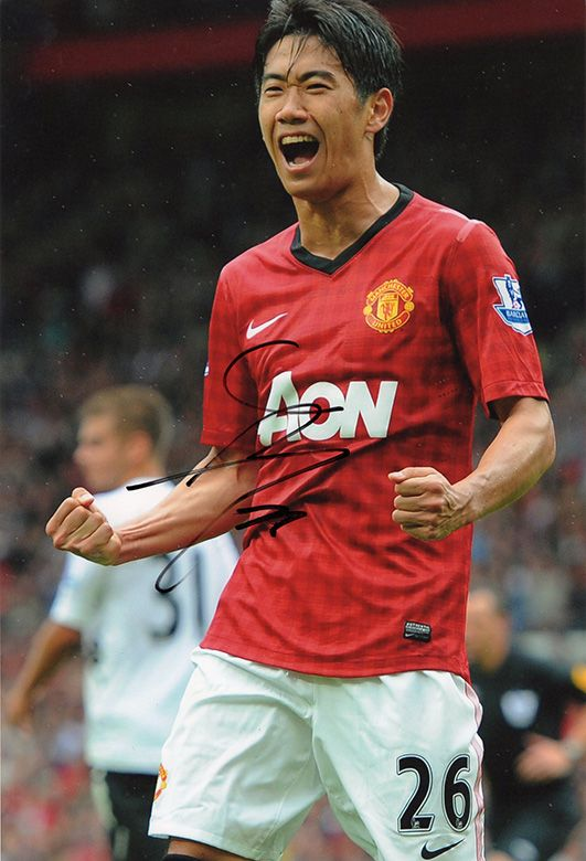 Shinji Kagawa, Manchester Utd & Japan, signed 12x8 inch photo.