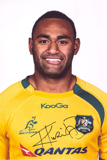 Tevita Kuridrani, Australia, signed 12x8 inch photo.