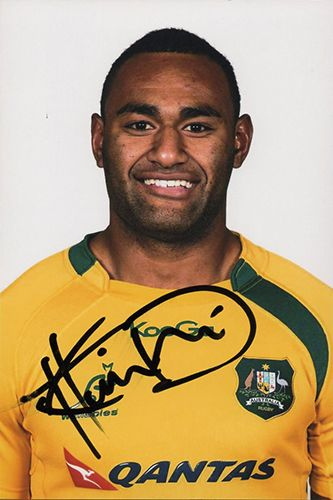 Tevita Kuridrani, Australia, signed 6x4 inch photo.