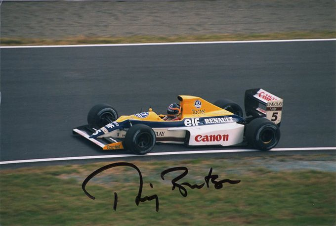 Thierry Boutsen, Williams Renault F1, signed 6x4 inch photo.