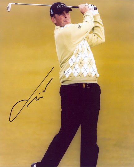 Thomas Bjorn, signed 10x8 inch photo.(2)