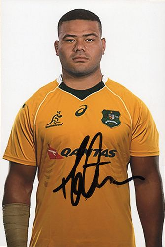Tolu Latu, Australia, signed 6x4 inch photo.