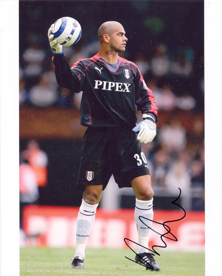 Tony Warner, Fulham, signed 10x8 inch photo.